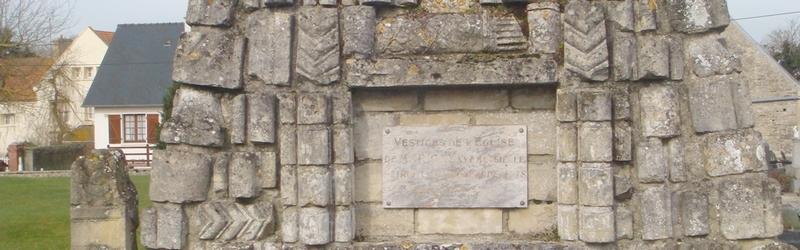 Vestige de l'église de Longues sur mer