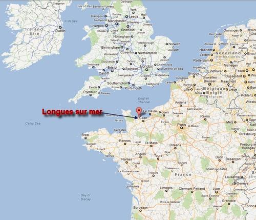 Position de Longues sur mer en europe