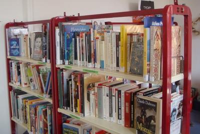 un large choix de livres est proposé