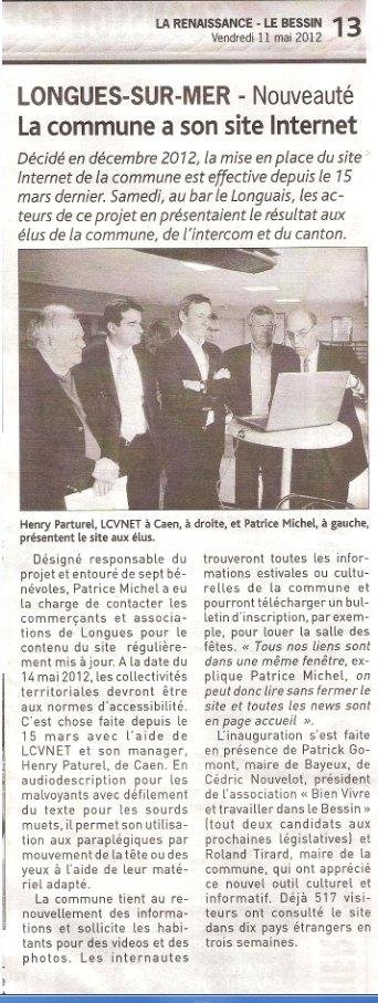 article inauguration la renaissance du bessin 11 mai 2012