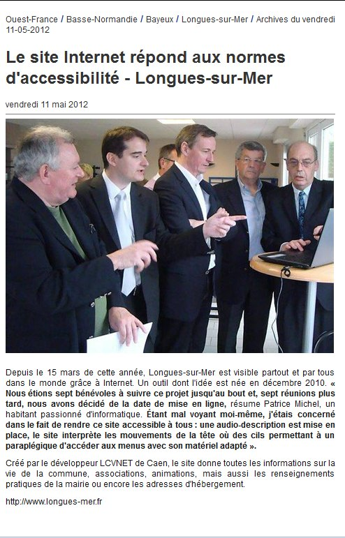 ouest france inauguration su site