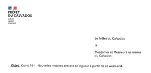 19.10.20 Nouveaux arrêtés préfectoraux COVID-19